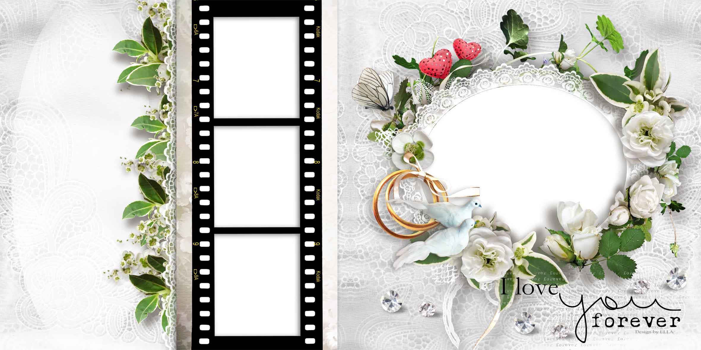 листы для свадебной фотокниги шаблоны будем